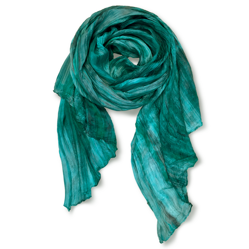 Lua scarf color Teal Grey
