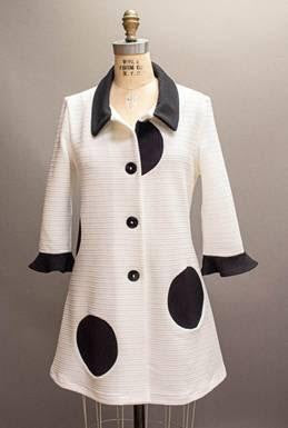 ANDRIA LIEU WHITE LONG DOTTIE JACKET - Coming Soon