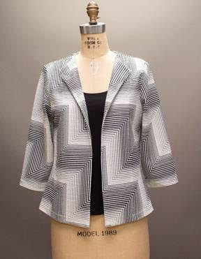 ANDRIA LIEU Nicki Jacket SH-724 in fabric 8838P Wht/Blk
