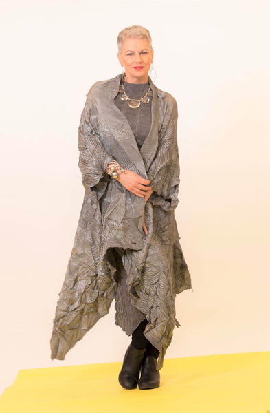 VANITE COUTURE PLEATED LONG CARDIGAN COVER UP 81028