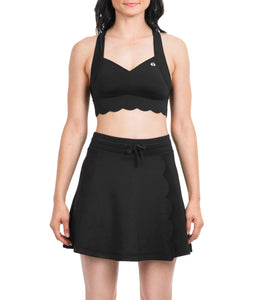 Thrive Societe Black Scalloped Sports Bra