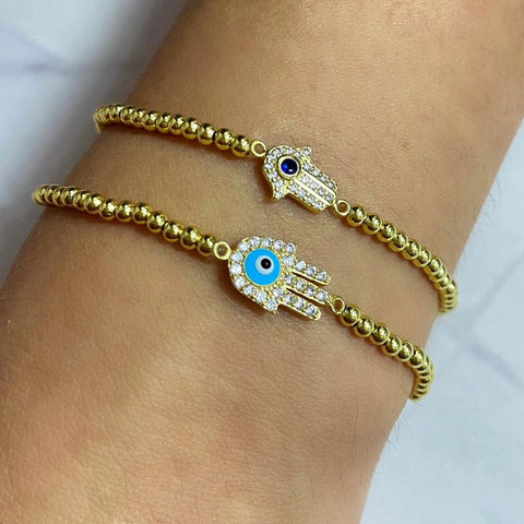 Petite Evil Eye Beaded Bracelet
