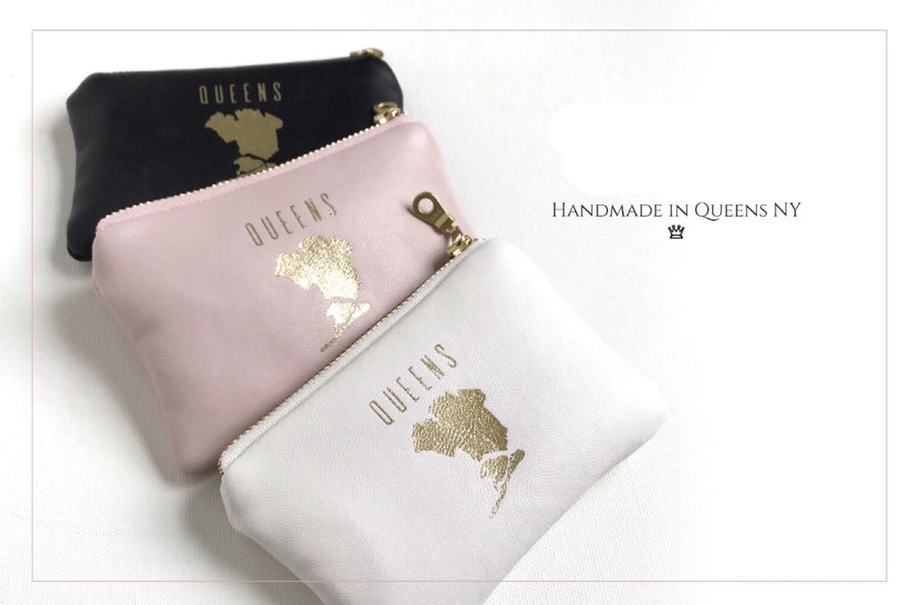 Queens Map Eco Leather Cosmetic Bag