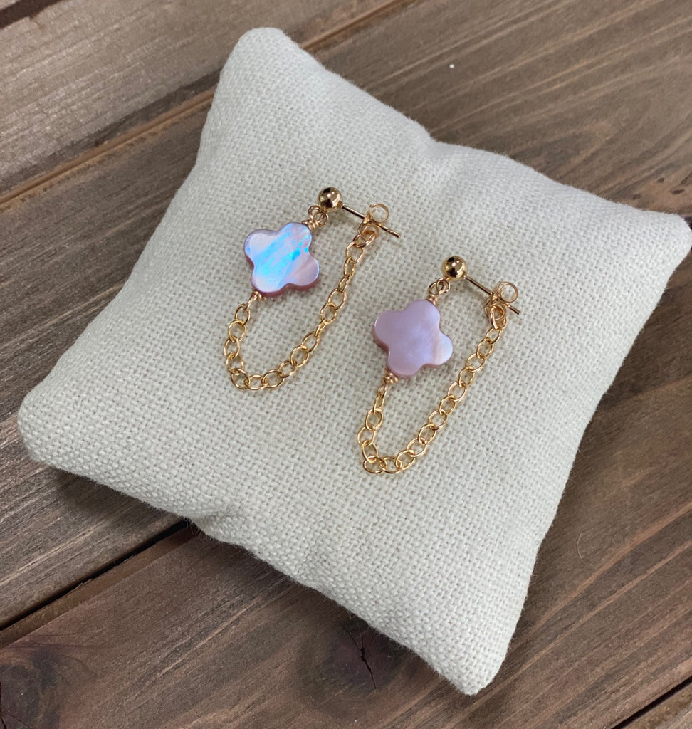 Pink Mother of Pearl Earrings