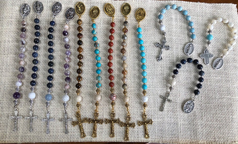 Semi-Precious Mini Rosary Beads