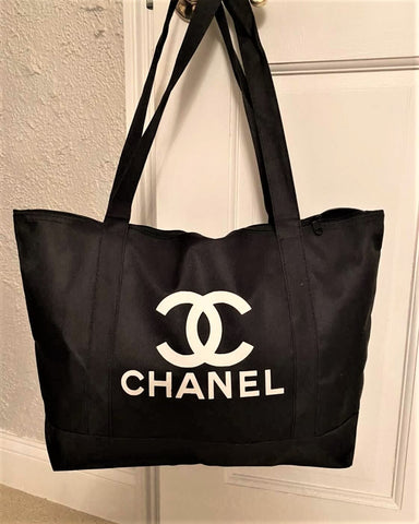 Designer Inspired Tote-Black