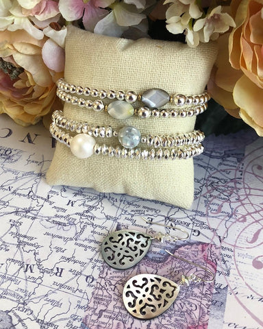Mother of Pearl Stacking Bracelet