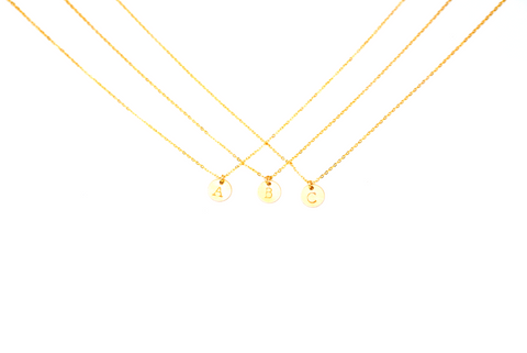Petite Initial Charm Necklace