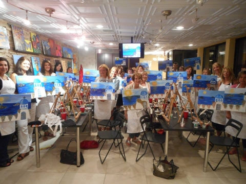 paint, wine, and canvas BYOB class in Berkeley Heights, New Jersey
