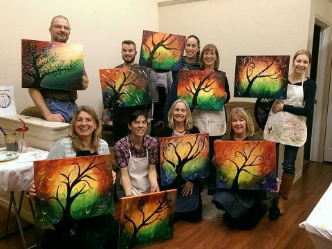 paint, wine, and canvas BYOB class in Kalispell, Montana, MT
