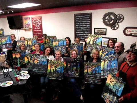 paint, wine, and canvas BYOB class in Lebanon, Pennsylvania, PA