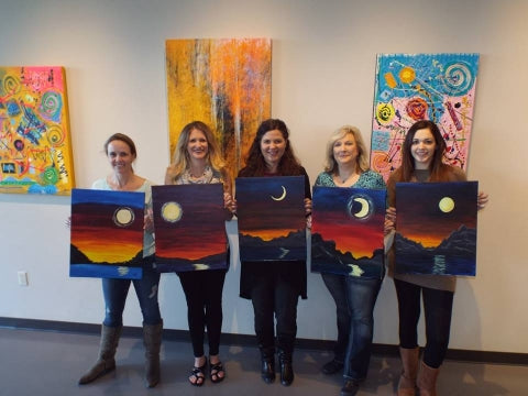 paint, wine, and canvas BYOB class in Omaha, Nebraska, NE