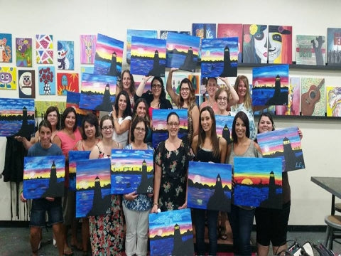 paint, wine, and canvas BYOB class in Rhode Island, RI