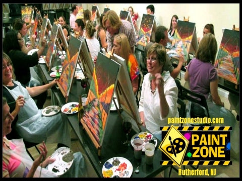 paint, wine, and canvas BYOB class in Rutherford, New Jersey, NJ