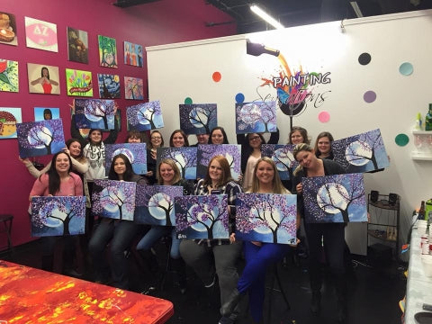 paint, wine, and canvas BYOB class in Shelby Township, Michigan, MI