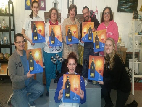 paint, wine, and canvas BYOB class in Wilmington, Delaware, DE