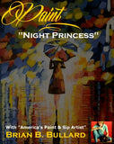 Paint & Sip Licensed Painting Instructions -- NIGHT PRINCESS