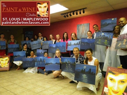 Apr 18, Sat, 7-10pm, Private Paint & Wine Class Party in St. Louis / Maplewood