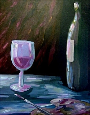 "Nov 21, Fri, 7-10pm, ""Paint & Wine Still Life"" Public Paint & Wine Class in St. Louis / Maplewood"