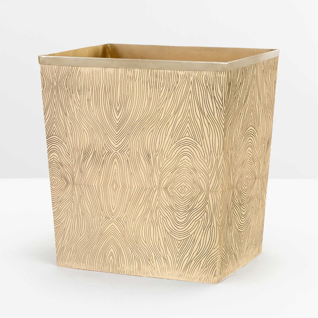 Pigeon and Poodle Humbolt Rectangular Wastebasket, Tapered