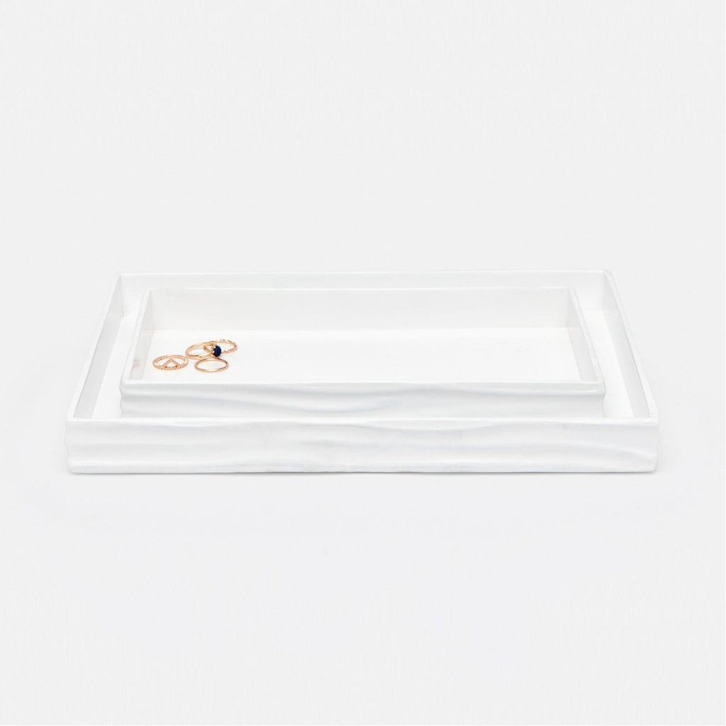 Pigeon and Poodle Solin Rectangular Tray - Straight, 2-Piece Set