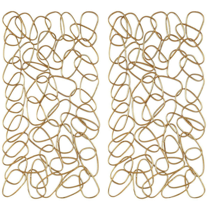 Uttermost in The Loop Gold Wall Art Set of 2