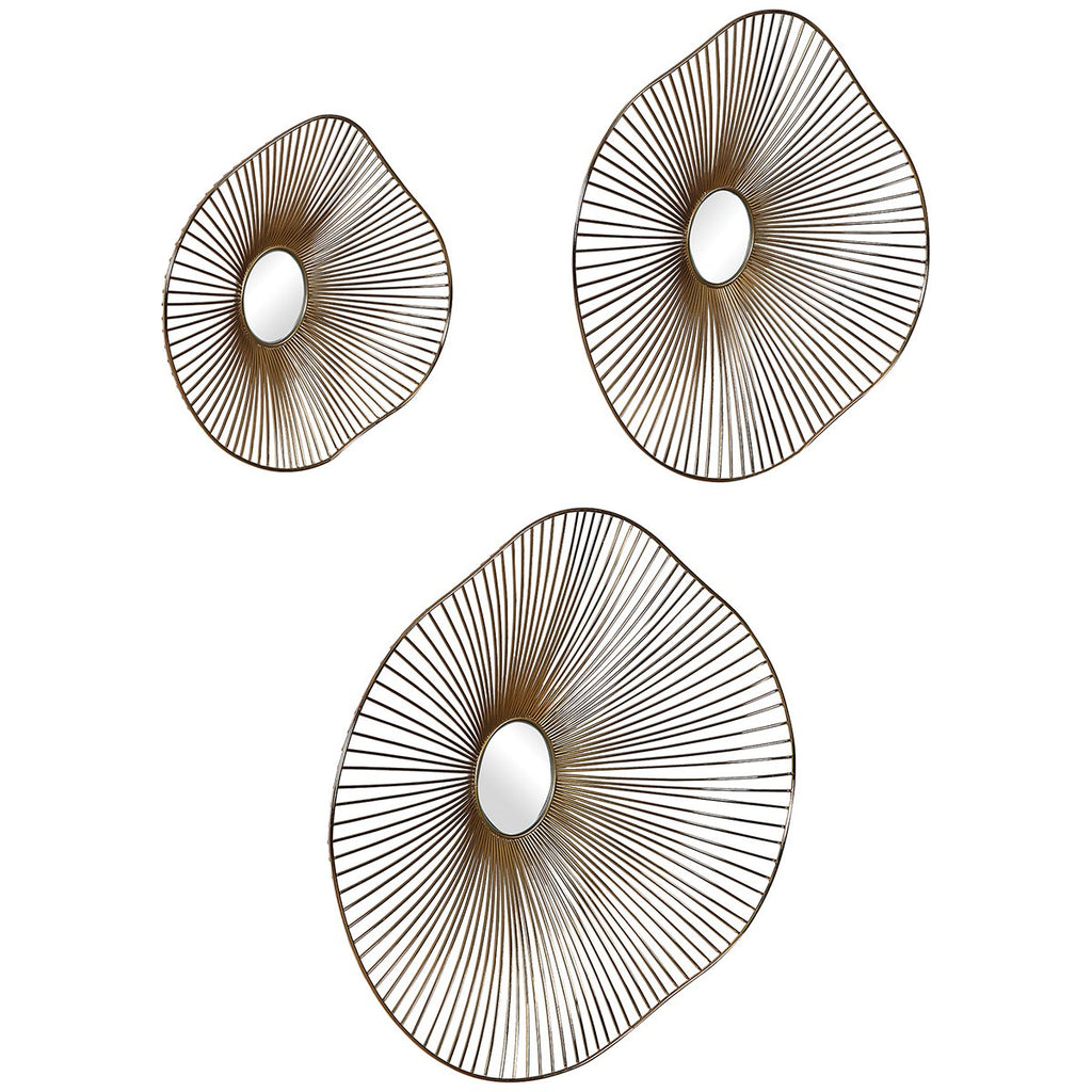 Uttermost Avarie Gold Metal Wall Art Set of 3