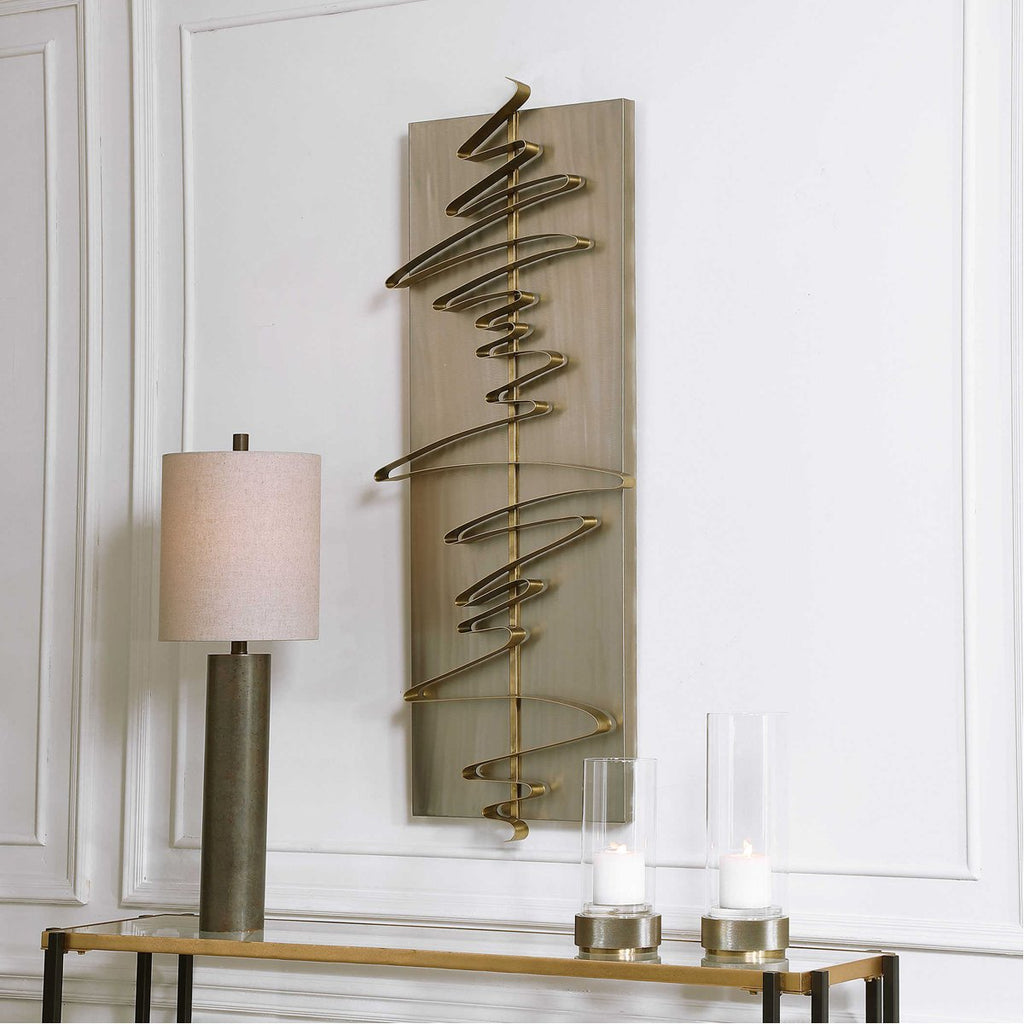 Uttermost Script Modern Metal Wall Decor