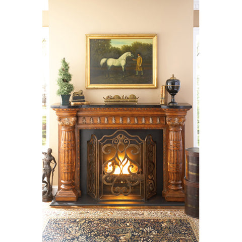 Ambella Home Tiger Lily 3-Panel Fireplace Screen