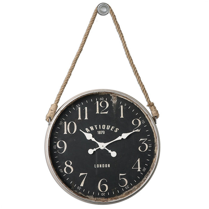 Uttermost Bartram Antiqued Ivory Wall Clock