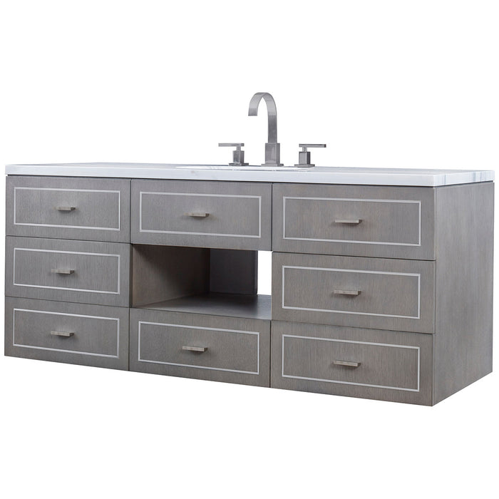 Ambella Home Albany Wall Sink Chest - Grey