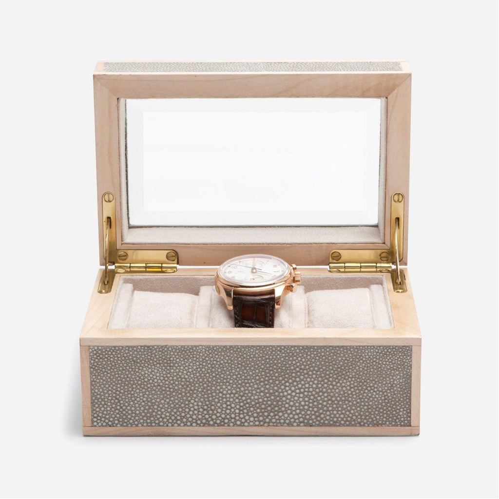 Pigeon and Poodle Elmbridge 3-Watch Box with Beveled Glass