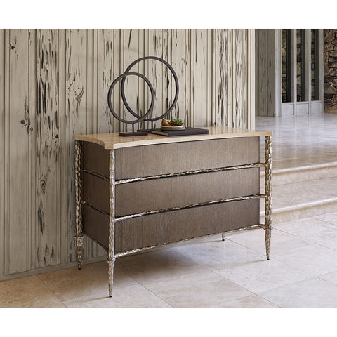 Ambella Home Chiseled Chest - Driftwood / Antique Silver
