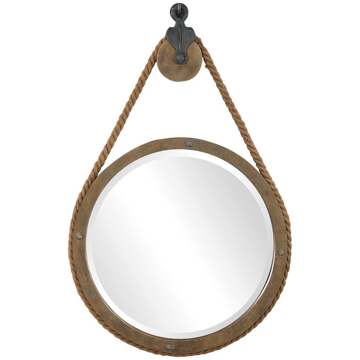 Uttermost Melton Round Pulley Mirror