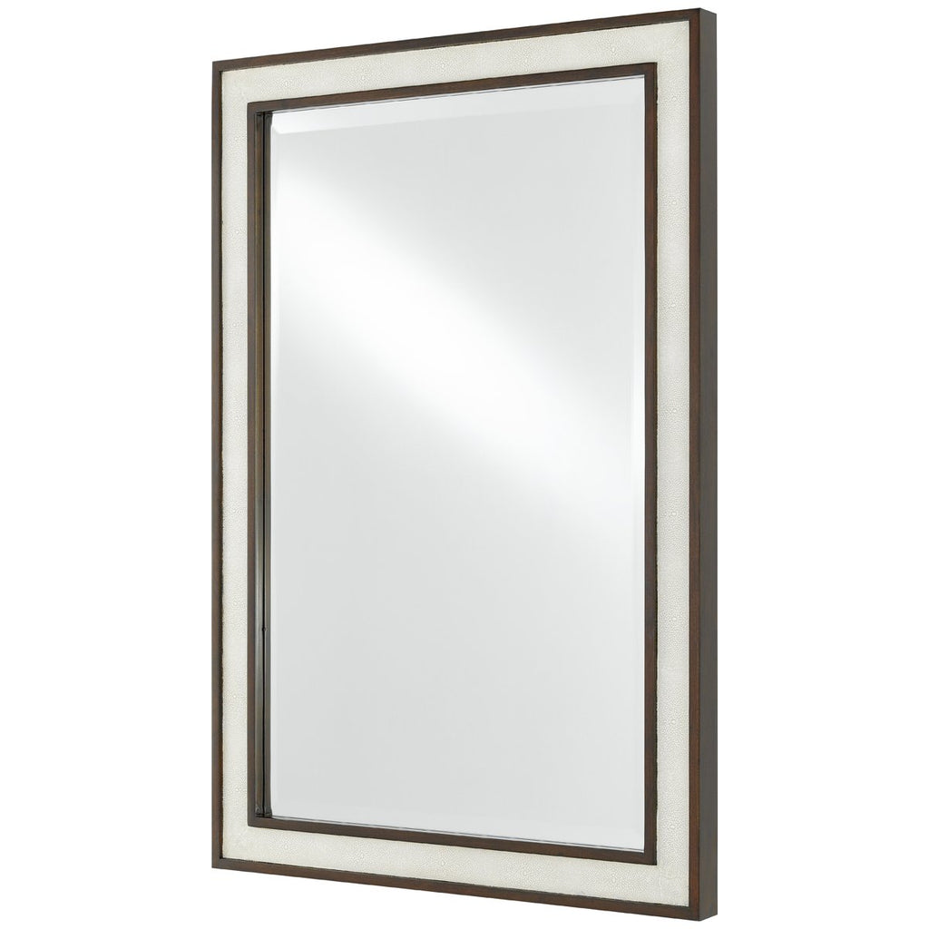 Currey and Company Evie Shagreen Mirror