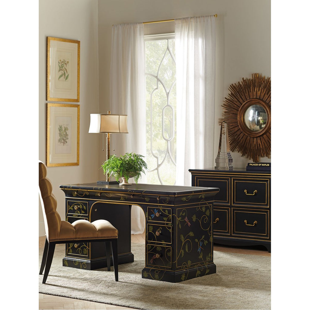 Sligh Studio Designs Enchantment Hand-Painted Double Pedestal Desk