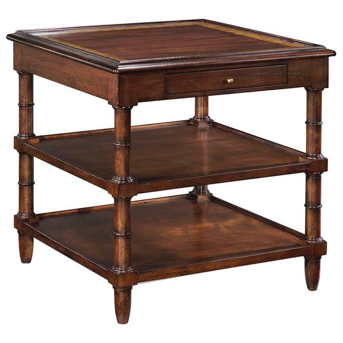Woodbridge Furniture Aged Mahogany Regency Side Table