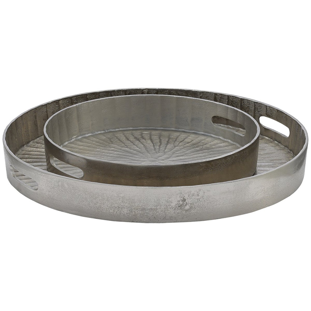 Currey and Company Luca Silver Tray