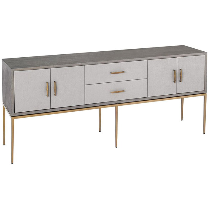 Interlude Home Corinna Buffet - Grey