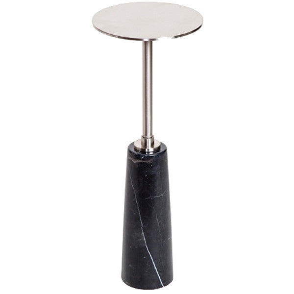 Interlude Home Beck Round Drink Table End Tables Benjamin Rugs