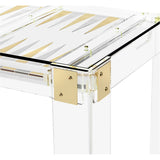 Interlude Home Pierre Acrylic Backgammon Table