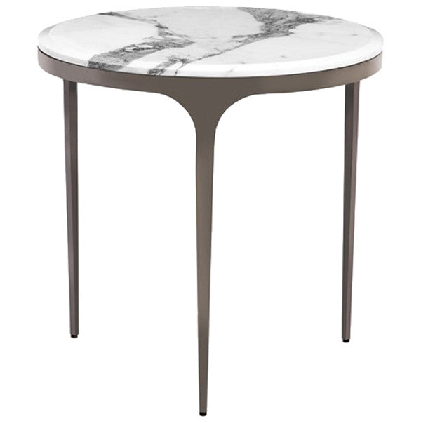 Interlude Home Camilla Side Table - Arabescato
