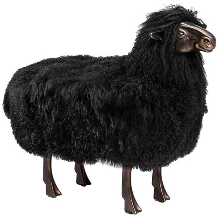Interlude Home Leon Sheep Sculpture in Black