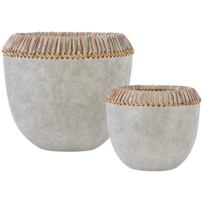 Uttermost Aponi Concrete Ray Bowls - Set of 2
