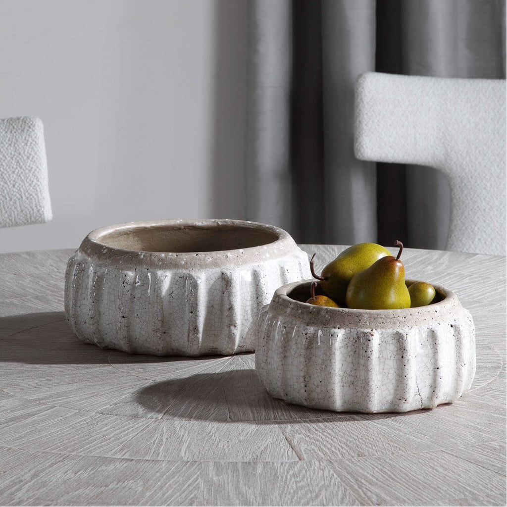 Uttermost Azariah Distressed Bowls - Set of 2