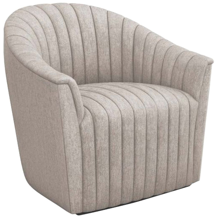 Interlude Home Channel Swivel Chair - Luxe Chenille