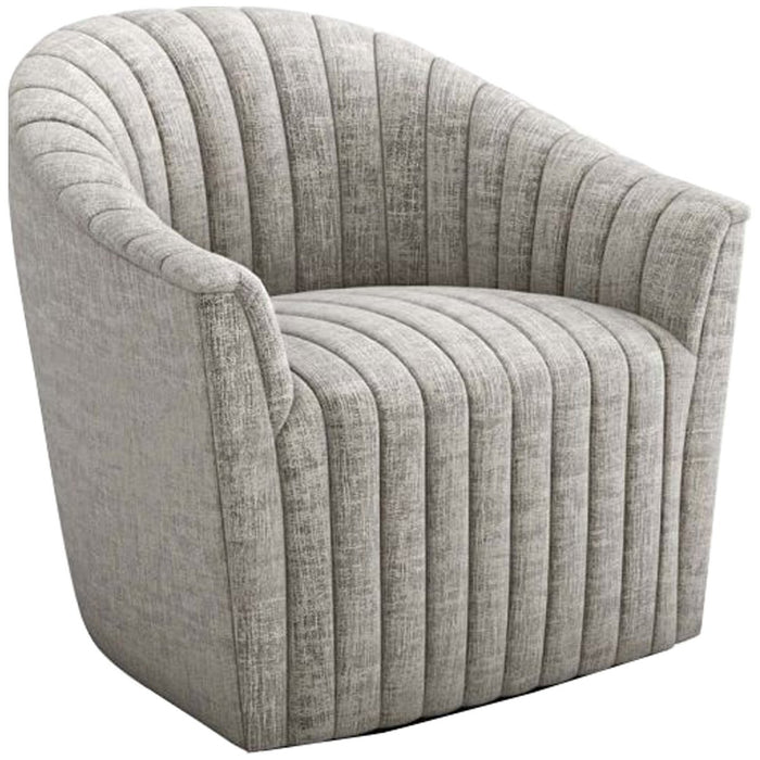 Interlude Home Channel Swivel Chair - Heathered Chenille