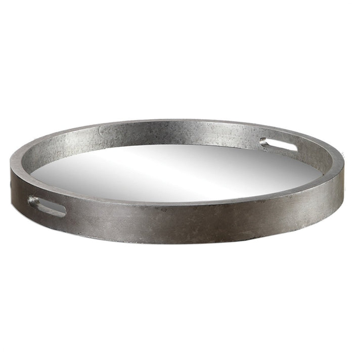 Uttermost Bechet Antiqued Silver Tray