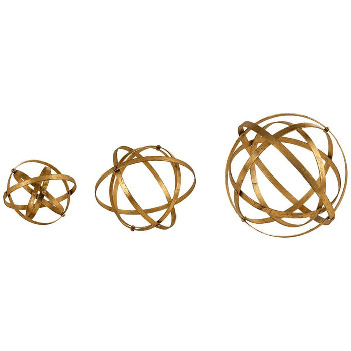 Uttermost Stetson Gold Spheres Tabletop Set of 3