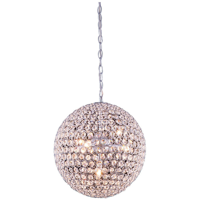 Elegant Lighting Cabaret 5-Light Chrome Pendant